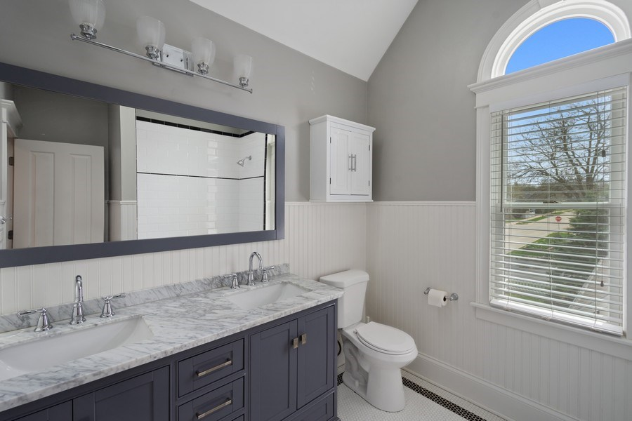 Real Estate Photography - 201 W Russell St, Barrington, IL, 60010 - 2nd Bathroom