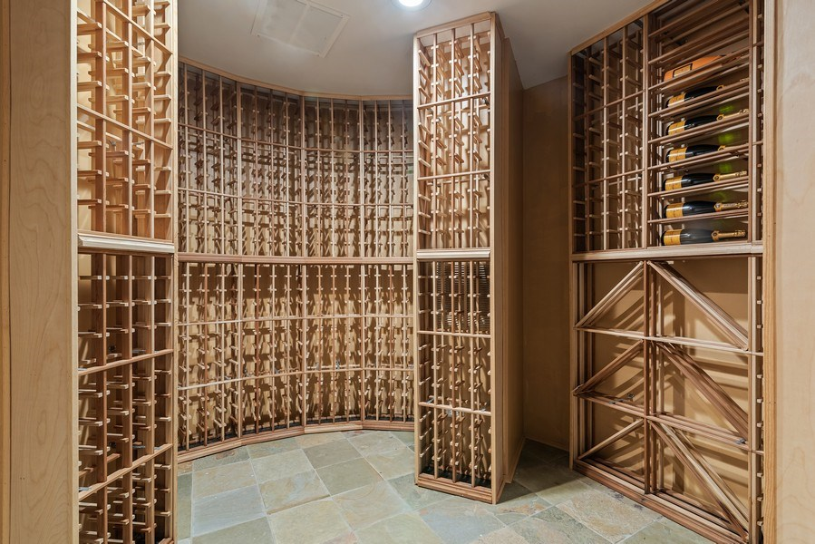 Real Estate Photography - 2021 Chestnut Ave, Wilmette, IL, 60091 - Wine Cellar