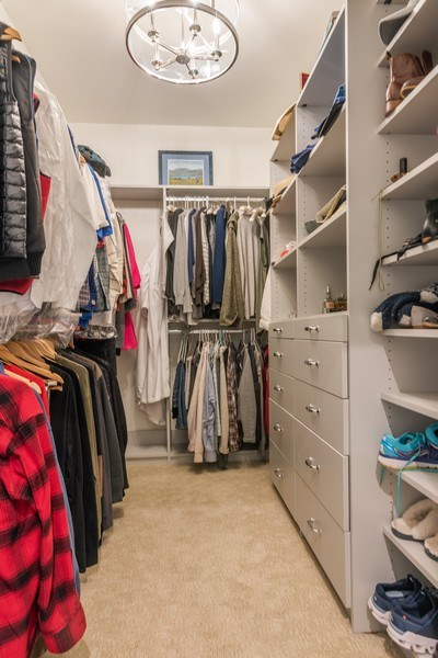 Real Estate Photography - 2021 Chestnut Ave, Wilmette, IL, 60091 - Master Bedroom Closet