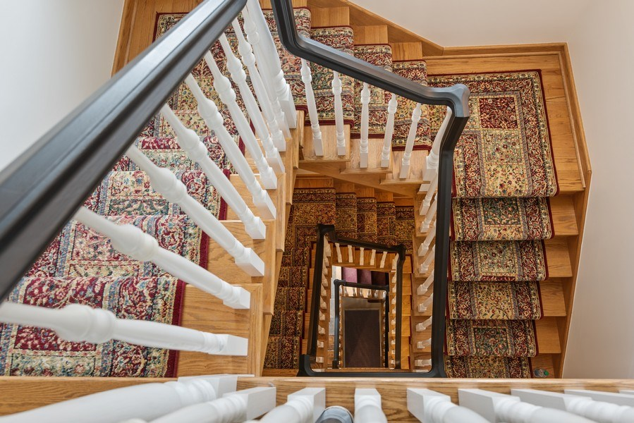 Real Estate Photography - 2021 Chestnut Ave, Wilmette, IL, 60091 - Staircase