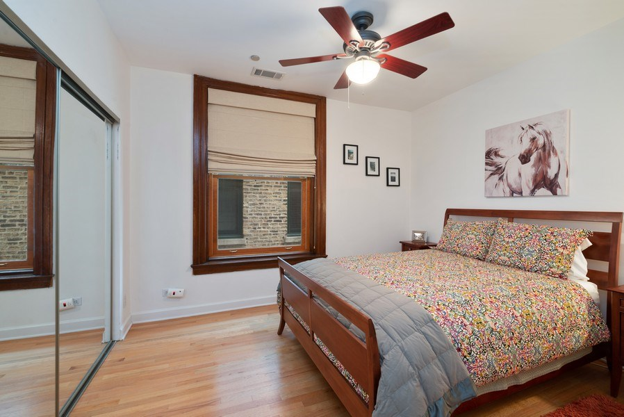 Real Estate Photography - 550 W Surf St, Unit 519, Chicago, IL, 60657 - Bedroom