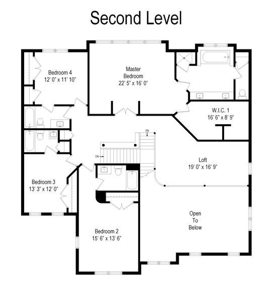 Real Estate Photography - 1650 Primrose Ln, Glenview, IL, 60026 - Floor Plan
