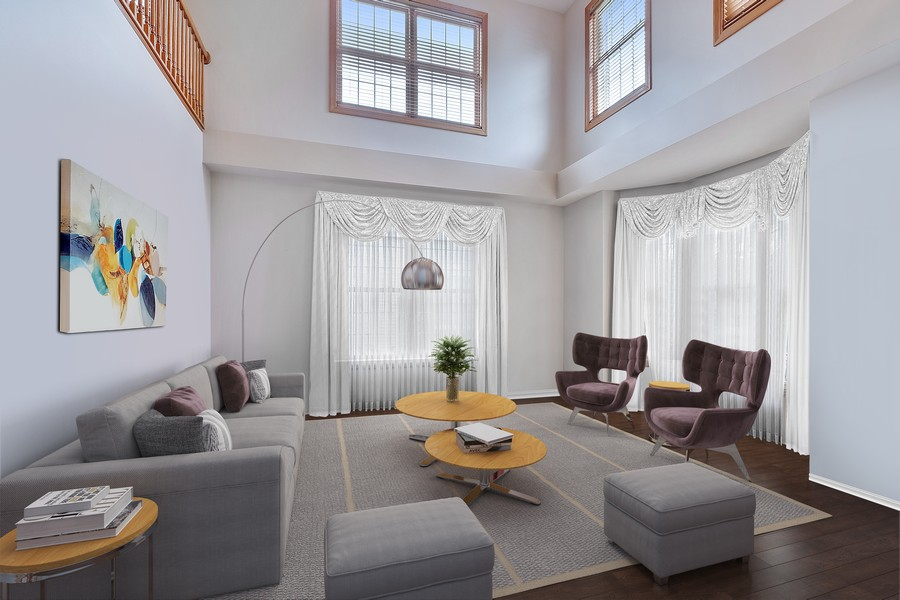 Real Estate Photography - 1650 Primrose Ln, Glenview, IL, 60026 - Virtually Staged Living Room