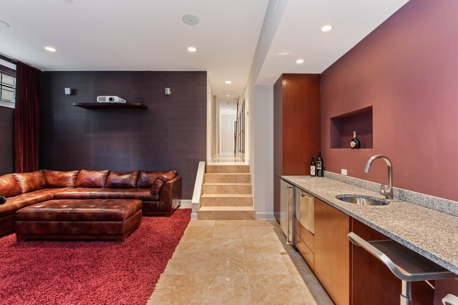 Real Estate Photography - 1619 N. Paulina St., Chicago, IL, 60622 - Media Room