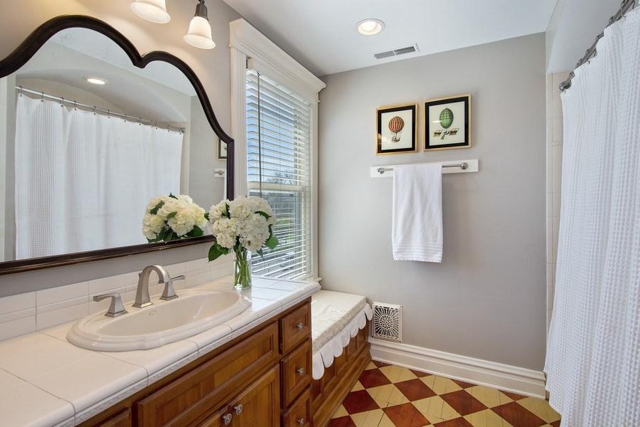 Real Estate Photography - 428 North Avenue, Barrington, IL, 60010 - Hallway Bathroom