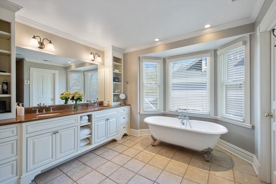 Real Estate Photography - 428 North Avenue, Barrington, IL, 60010 - Master Bathroom