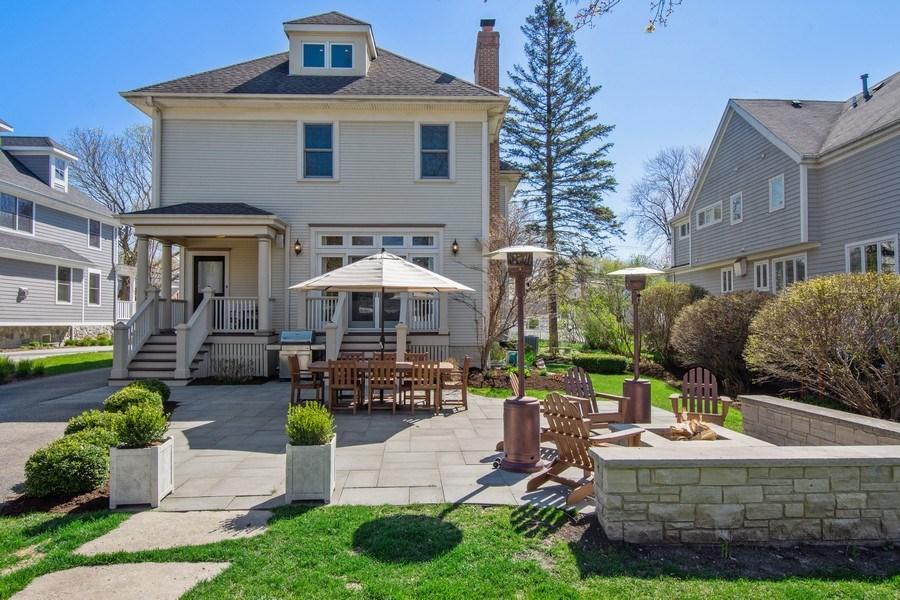 Real Estate Photography - 428 North Avenue, Barrington, IL, 60010 - Rear View / Patio