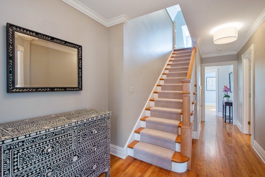 Real Estate Photography - 428 North Avenue, Barrington, IL, 60010 - Staircase to 3rd Floor