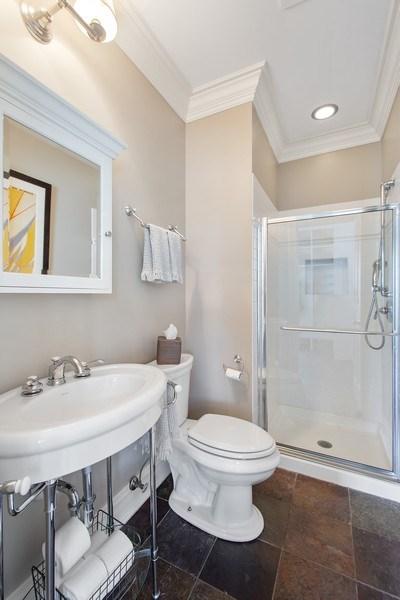 Real Estate Photography - 428 North Avenue, Barrington, IL, 60010 - 1st Floor Bathroom
