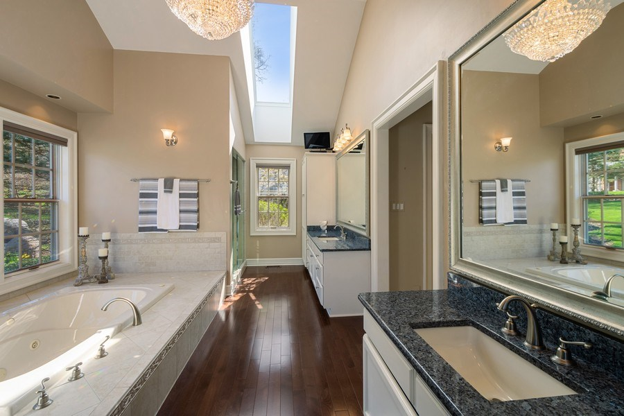 Real Estate Photography - 7 S Wynstone Dr, North Barrington, IL, 60010 - Main Level Master Suite Bathroom