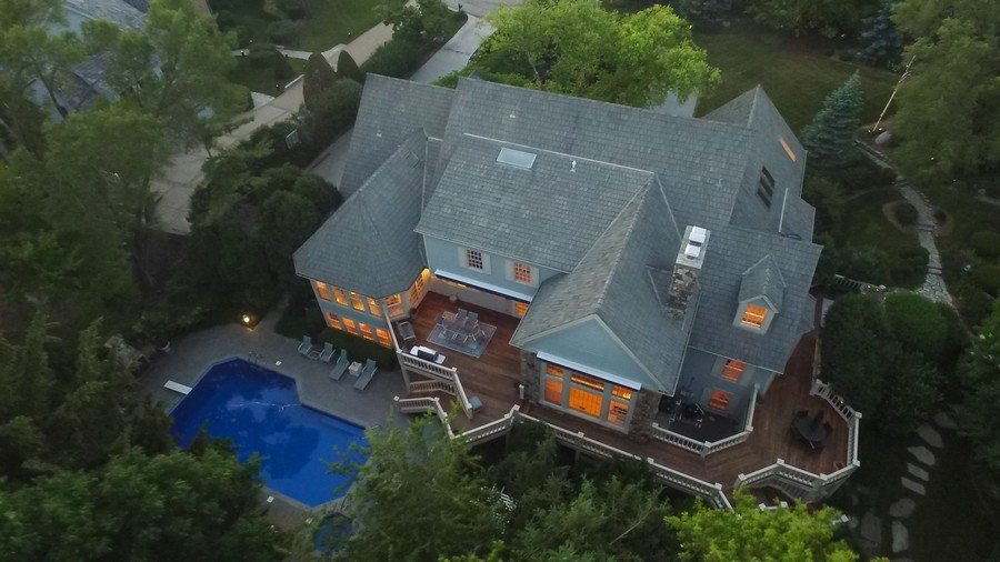 Real Estate Photography - 7 S Wynstone Dr, North Barrington, IL, 60010 - Aerial View