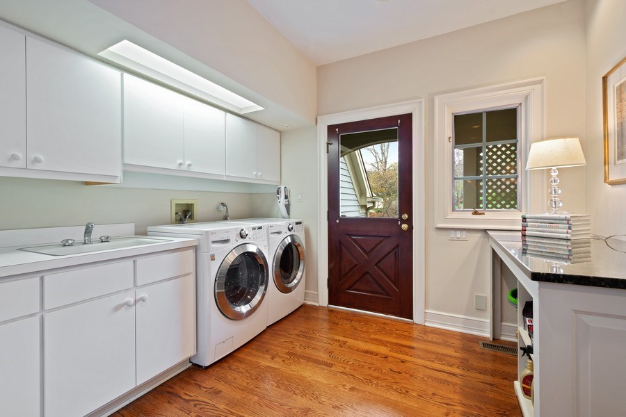 Real Estate Photography - 7 S Wynstone Dr, North Barrington, IL, 60010 - Main Level Laundry/Mudroom