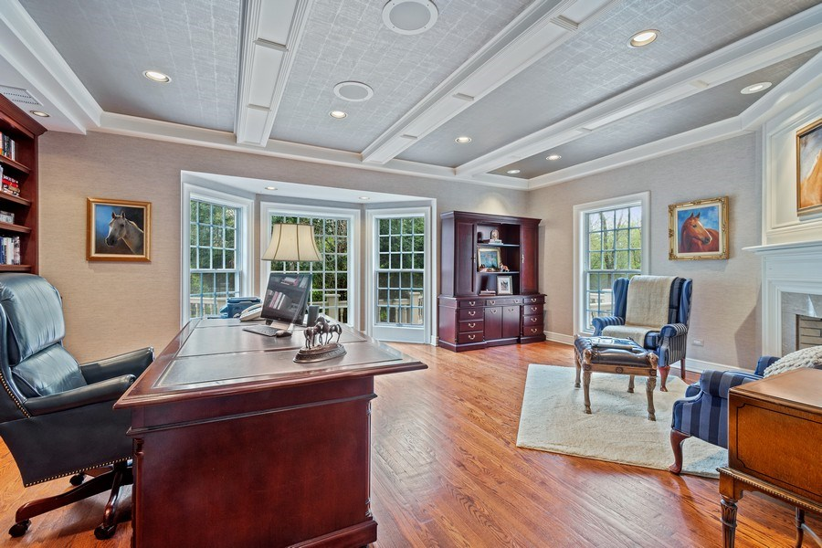Real Estate Photography - 7 S Wynstone Dr, North Barrington, IL, 60010 - Library/Home Office