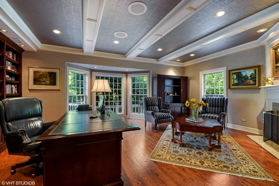 Real Estate Photography - 7 S Wynstone Dr, North Barrington, IL, 60010 - Library / Home Office
