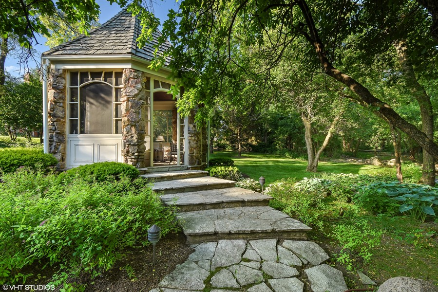 Real Estate Photography - 7 S Wynstone Dr, North Barrington, IL, 60010 - Available 2nd Adjacent Lot w/Gazebo & Gardens