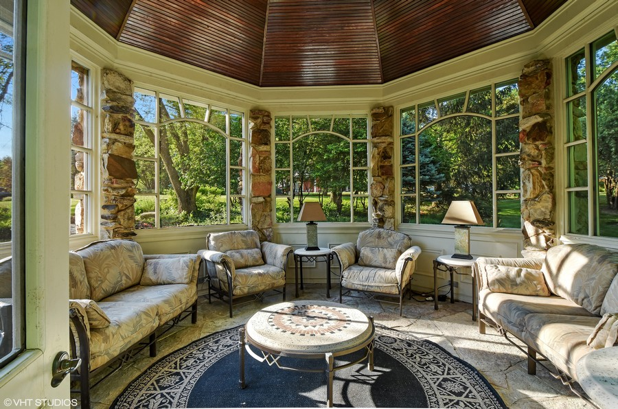 Real Estate Photography - 7 S Wynstone Dr, North Barrington, IL, 60010 - Gazebo Interior on Available 2nd Adjacent Lot