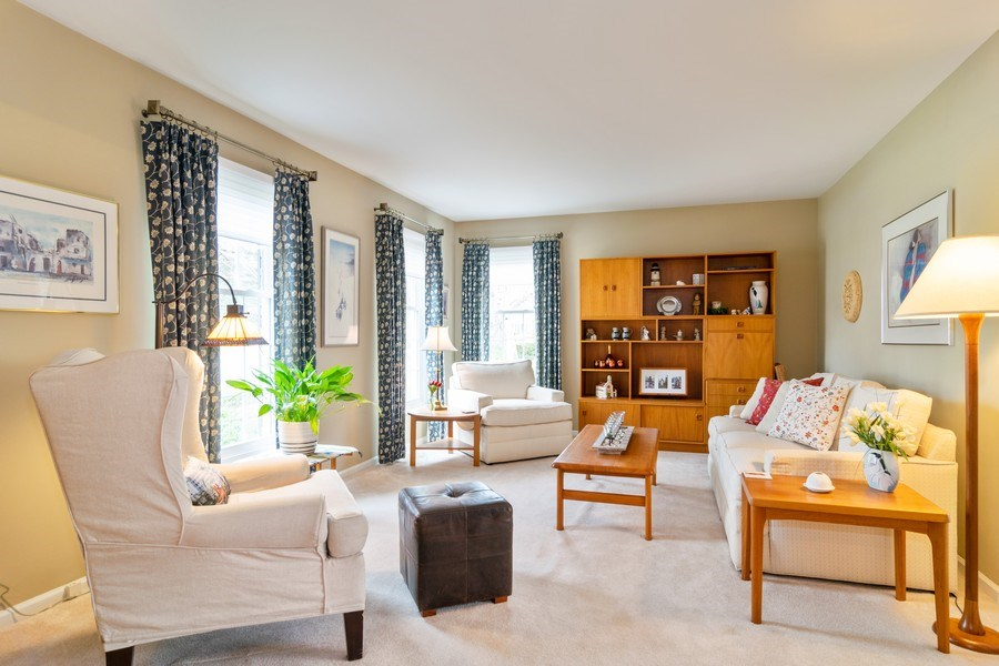 Real Estate Photography - 4010 N. Mitchell Drive, Arlington Heights, IL, 60004 - Living Room