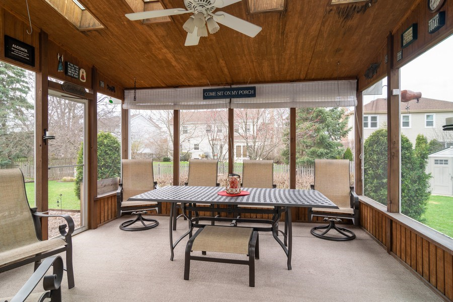 Real Estate Photography - 4010 N. Mitchell Drive, Arlington Heights, IL, 60004 - Screened In Porch