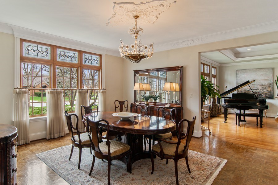 Real Estate Photography - 194 Akenside, Riverside, IL, 60546 - Dining Room