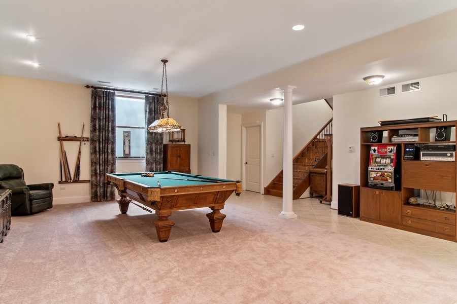 Real Estate Photography - 194 Akenside, Riverside, IL, 60546 - Game Room