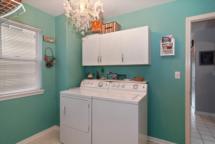 Real Estate Photography - 2473 Golf Trail Ct, Aurora, IL, 60506 - Laundry Room