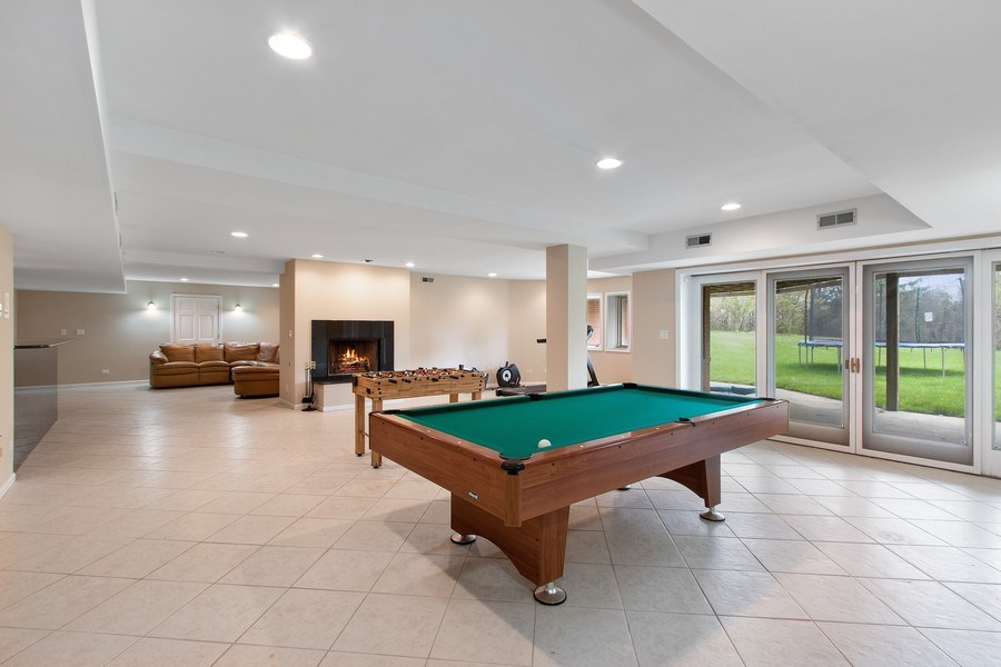 Real Estate Photography - 309 Dundee Road, Barrington, IL, 60010 - Walkout Lower Level