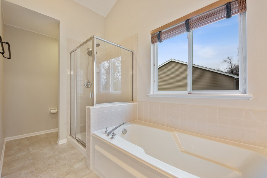 Real Estate Photography - 1320 Mayfair Ln, Grayslake, IL, 60030 - Master Bathroom