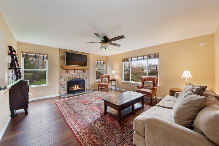 Real Estate Photography - 1320 Mayfair Ln, Grayslake, IL, 60030 - Family Room