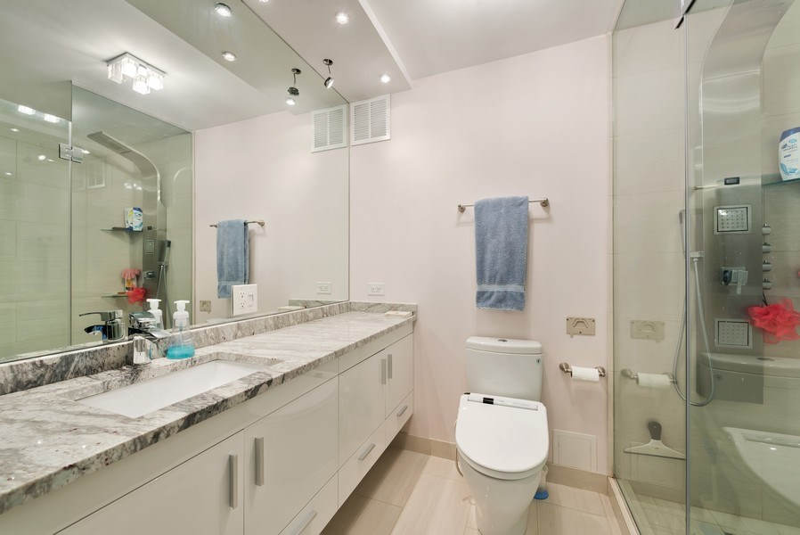 Real Estate Photography - 505 N. Lake Shore Drive, #2511, Chicago, IL, 60611 - Master Bathroom