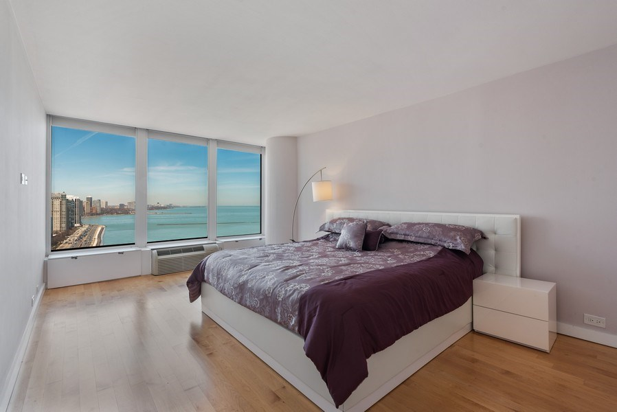 Real Estate Photography - 505 N. Lake Shore Drive, #2511, Chicago, IL, 60611 - Master Bedroom