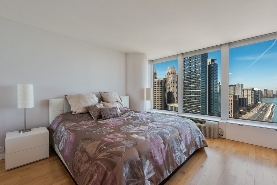 Real Estate Photography - 505 N. Lake Shore Drive, #2511, Chicago, IL, 60611 - 2nd Bedroom