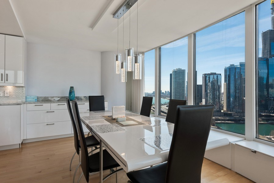Real Estate Photography - 505 N. Lake Shore Drive, #2511, Chicago, IL, 60611 - Dining Room
