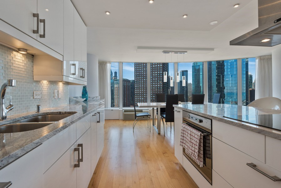 Real Estate Photography - 505 N. Lake Shore Drive, #2511, Chicago, IL, 60611 - Kitchen