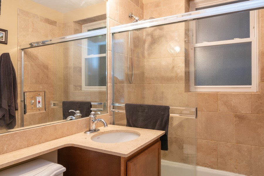 Real Estate Photography - 1323 W. Lawrence, Unit 2, Chicago, IL, 60640 - Bathroom