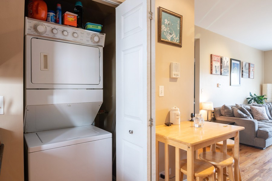 Real Estate Photography - 1323 W. Lawrence, Unit 2, Chicago, IL, 60640 - Laundry Room