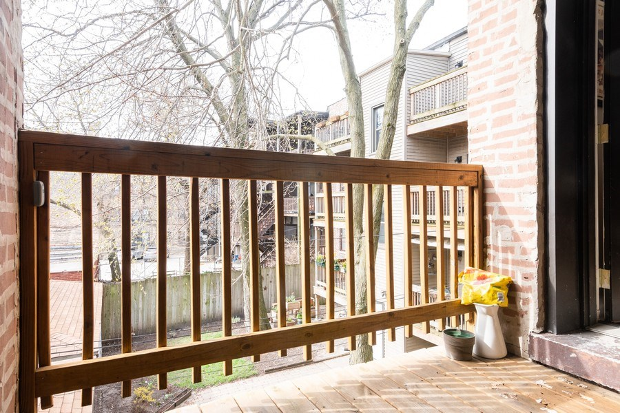 Real Estate Photography - 1323 W. Lawrence, Unit 2, Chicago, IL, 60640 - Deck