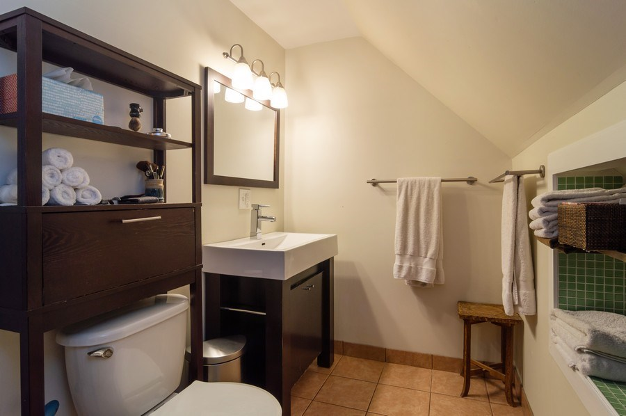 Real Estate Photography - 4145 N Albany Ave, Chicago, IL, 60618 - Master Bathroom