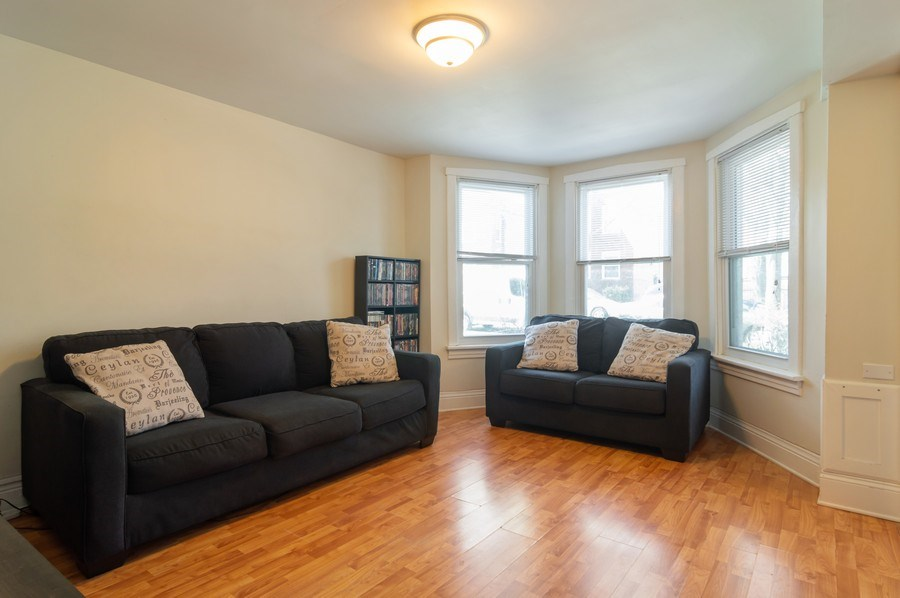 Real Estate Photography - 4145 N Albany Ave, Chicago, IL, 60618 - First Floor Rental Living Room