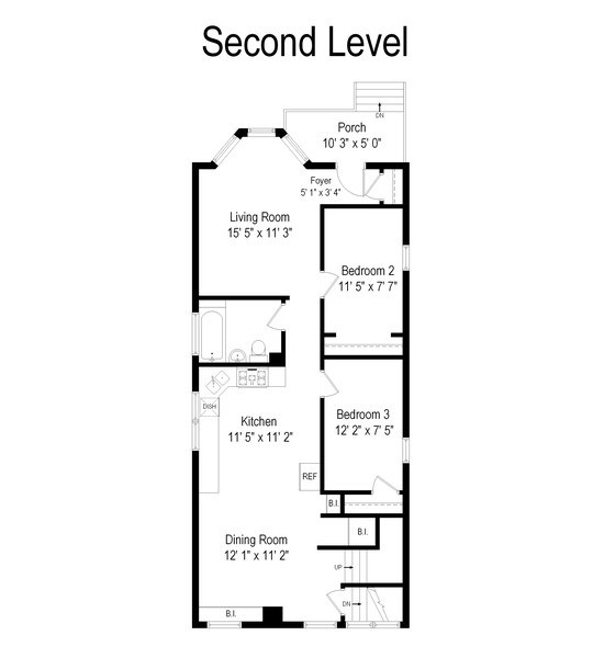 Real Estate Photography - 4145 N Albany Ave, Chicago, IL, 60618 - Floor Plan