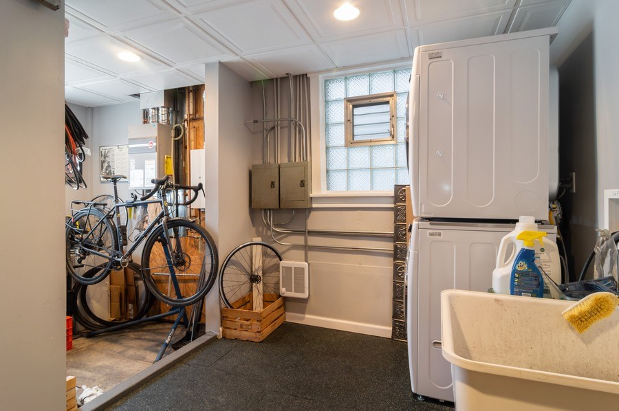 Real Estate Photography - 4145 N Albany Ave, Chicago, IL, 60618 - Laundry Room/Storage on Ground Floor