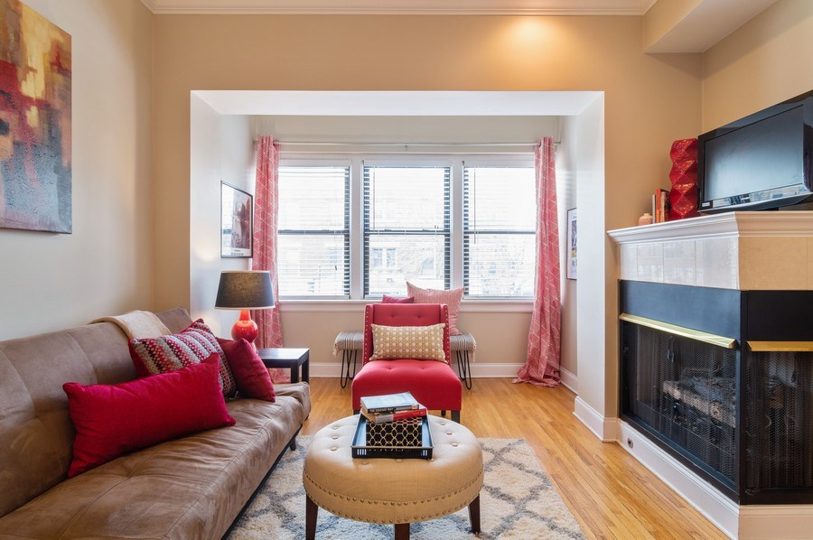 Real Estate Photography - 1344 West Irving Park Rd, 2N, Chicago, IL, 60613 - Living Room