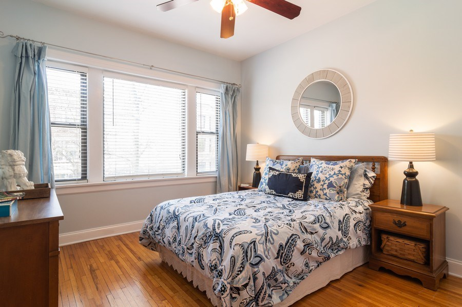 Real Estate Photography - 1344 West Irving Park Rd, 2N, Chicago, IL, 60613 - Master Bedroom