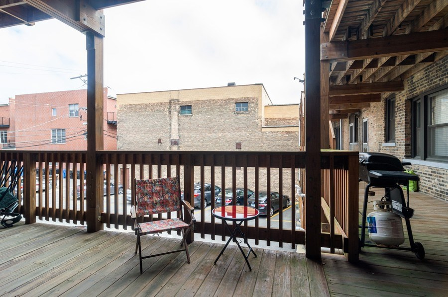 Real Estate Photography - 1344 West Irving Park Rd, 2N, Chicago, IL, 60613 - Deck