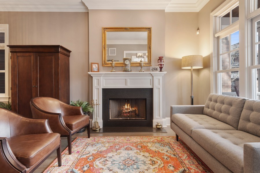 Real Estate Photography - 3336 N Claremont Ave, Chicago, IL, 60618 - Living Room