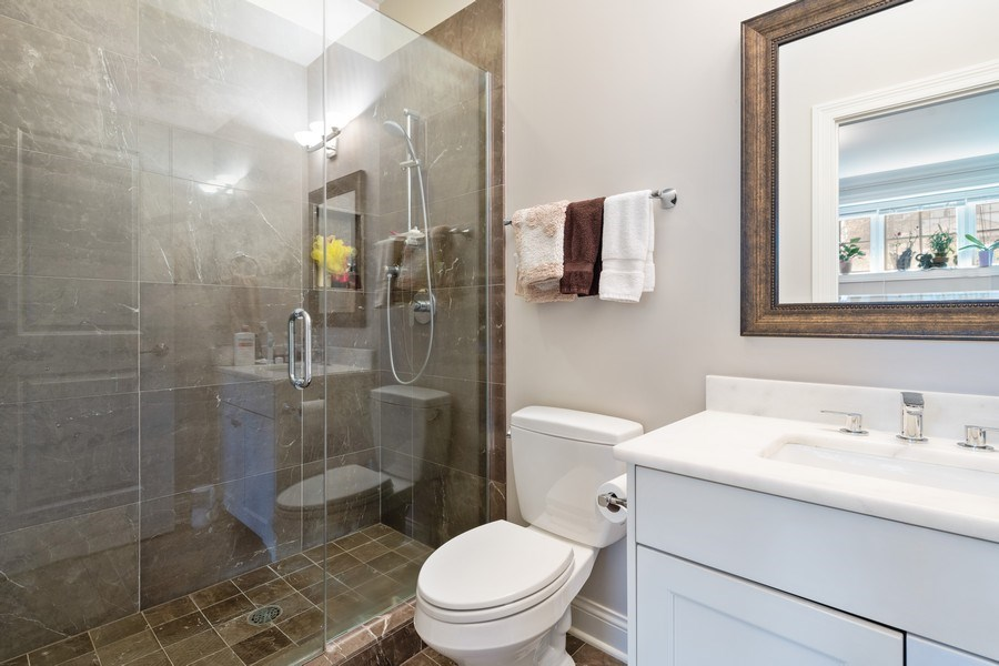 Real Estate Photography - 3336 N Claremont Ave, Chicago, IL, 60618 - 4th Bathroom