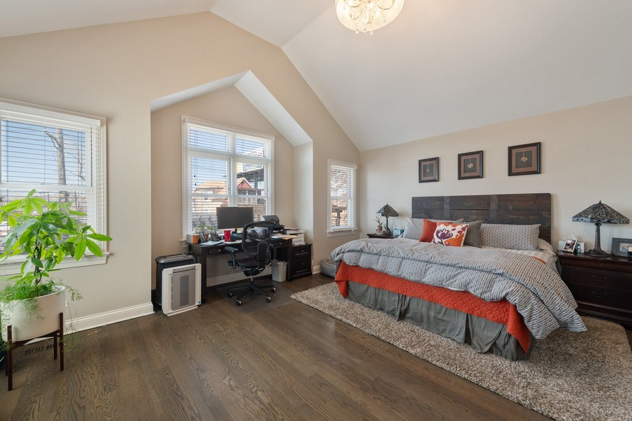 Real Estate Photography - 3336 N Claremont Ave, Chicago, IL, 60618 - Master Bedroom