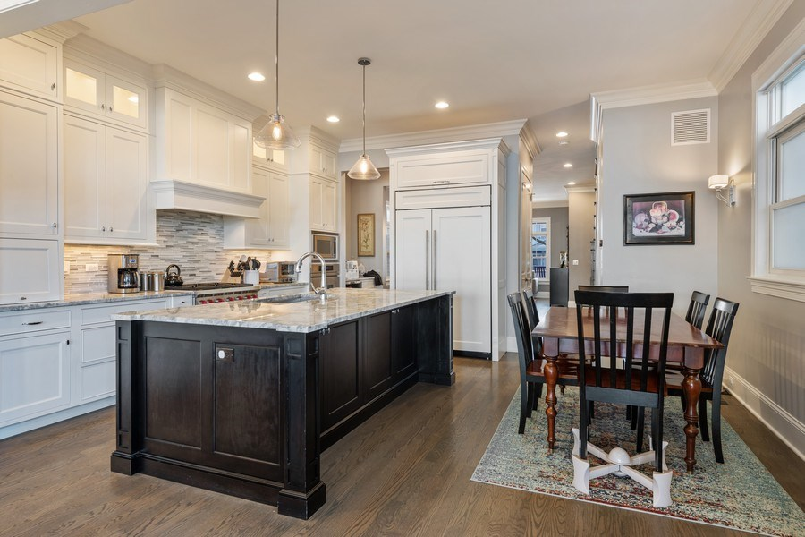 Real Estate Photography - 3336 N Claremont Ave, Chicago, IL, 60618 - Kitchen / Breakfast Room