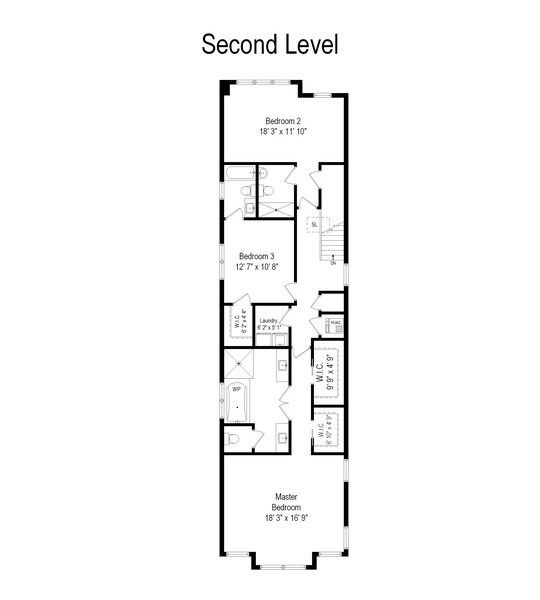 Real Estate Photography - 3336 N Claremont Ave, Chicago, IL, 60618 - Floor Plan