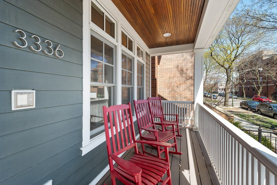 Real Estate Photography - 3336 N Claremont Ave, Chicago, IL, 60618 - Porch