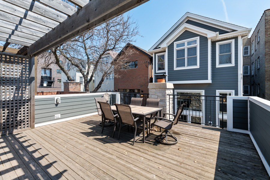 Real Estate Photography - 3336 N Claremont Ave, Chicago, IL, 60618 - Deck